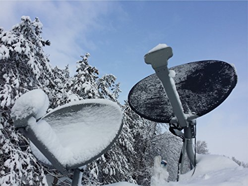 (Black) Satellite Dish Cover - Snow and Ice Protection for Directv, Dish Network, Shaw Direct, and Bell