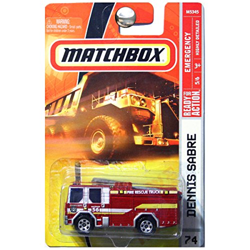 Matchbox 2008 Emergency Series 5 of 6 #74 Red Dennis Sabre Fire Truck