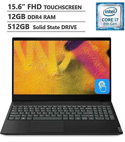 Lenovo Ideapad S340 15.6' Full HD IPS Touchscreen Laptop, Intel Core i7-8565U Processor up to 4.60GHz, 12GB RAM, 512GB SSD, Wireless-AC, Bluetooth, Windows 10, Onyx Black