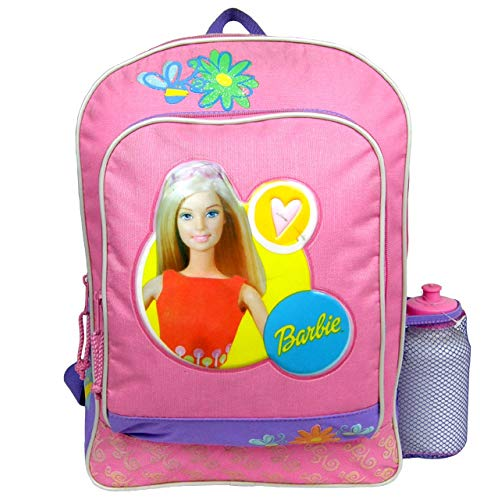 Backpack - Barbie - Large Backpack with Water Bottle - Purple