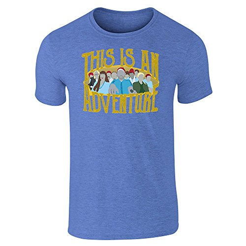 This is an Adventure Minimalist Heather Royal Blue L Graphic Tee T-Shirt for Men