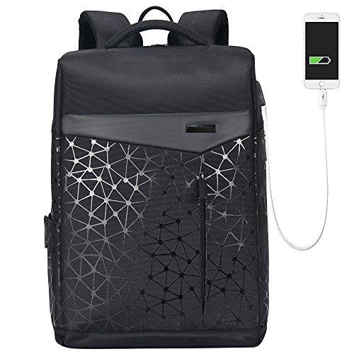 Aoking College 15.6 Laptop USB Backpack Antitheft Waterproof Office Slim Cool Backpack for Men …