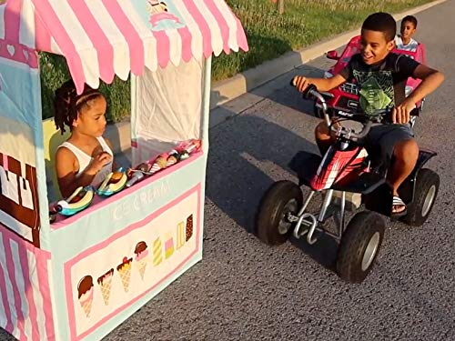 Clip: Drive Thru Ice Cream Stand Kids Pretend Play