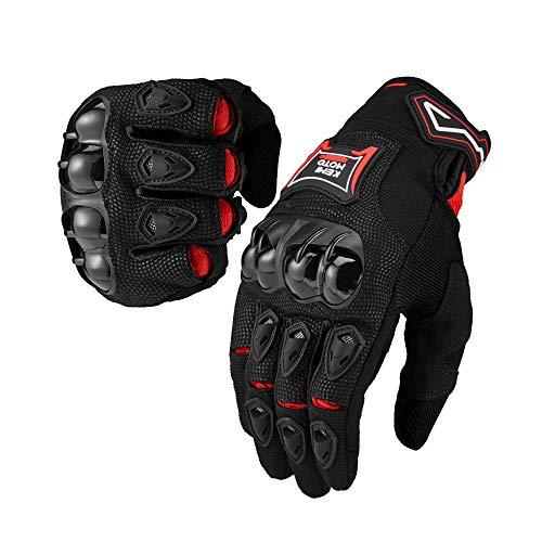 kemimoto Motorcycle Gloves Men Riding Breathable Summer Carbon Fiber Glove for Motocross Racing Dirt Bike ATV UTV Mountain Bike Cycling Outdoor Sports (XL, Black)