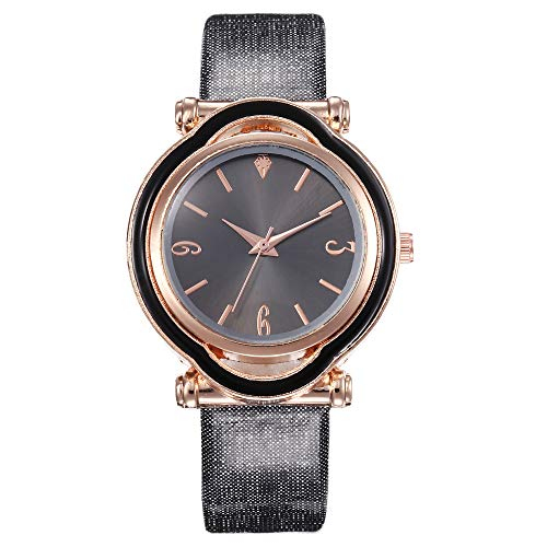 Classic Fine Watch,Waterproof Delicate Small Special Shape Stainless Steel Dial - Durable Leather Band Wrist Watch