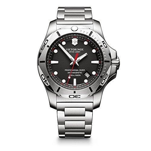 Victorinox Swiss Army Men's I.N.O.X. Swiss-Quartz Watch with Stainless-Steel Strap, Silver, 22 (Model: 241781)