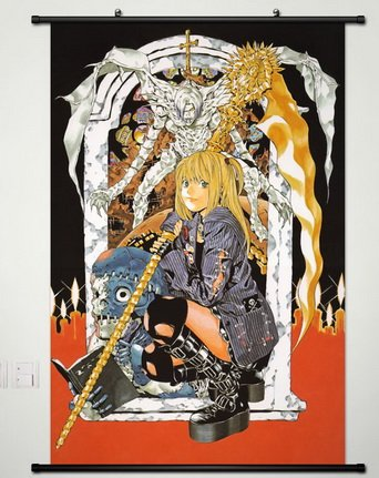 Death Note Wall Scroll Poster Fabric Painting for Anime Misa Amane & Rem 020 L