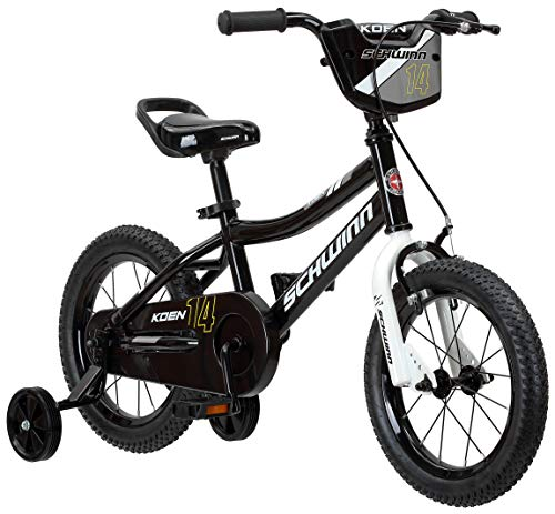 Schwinn Koen Boys Bike for Toddlers and Kids, 14-Inch Wheels, Black