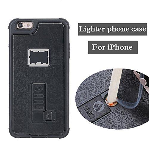 iPhone 7 Case, Multi-Functional Built-in Cigarette Lighter & Bottle Opener Protective Shock Proof Cover for Apple iPhone 7 (Black)