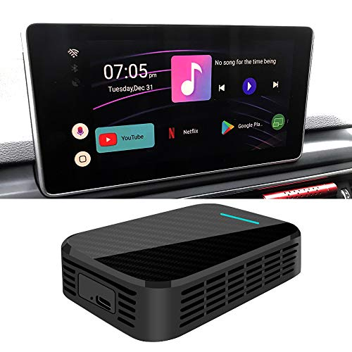 HIOUME New Wireless CarPlay AI Box 4GB+32GB, Add an Android 9.0 Multimedia GPS System to Factory Radio, Plug and Play, Support Google Play
