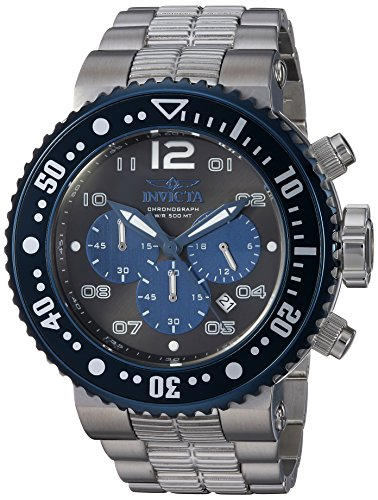 Invicta Men's Pro Diver Quartz Watch with Stainless-Steel Strap, Silver, 29.3 (Model: 25074)
