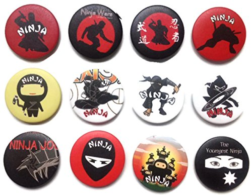 NINJA warrior Japan Awesome Quality Lot 12 New Pins Pinback Button Badge 1.25'
