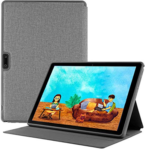 Android Tablet 10 Inch + Protective Case, 3G Unlocked Phablet with Dual SIM Card Slots and Cameras, Quad-Core Processor Tablet Phone, 1280x800 IPS Screen,GMS Certified,WiFi, Bluetooth, GPS – Silver
