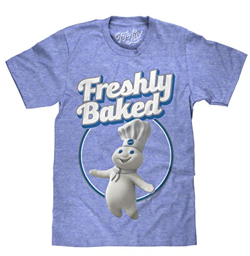 Doughboy Freshly Baked  Soft Touch Tee- SM Royal Snow Heather