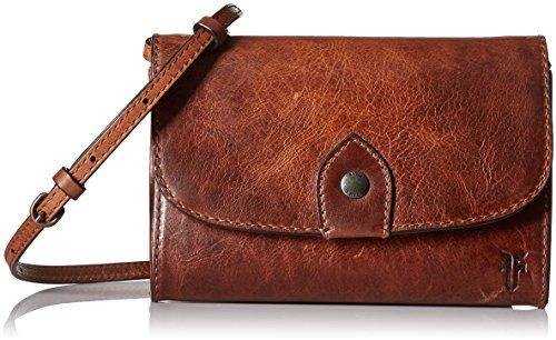 Frye womens Melissa Wallet Crossbody Cross Body Handbag, Cognac, One Size US