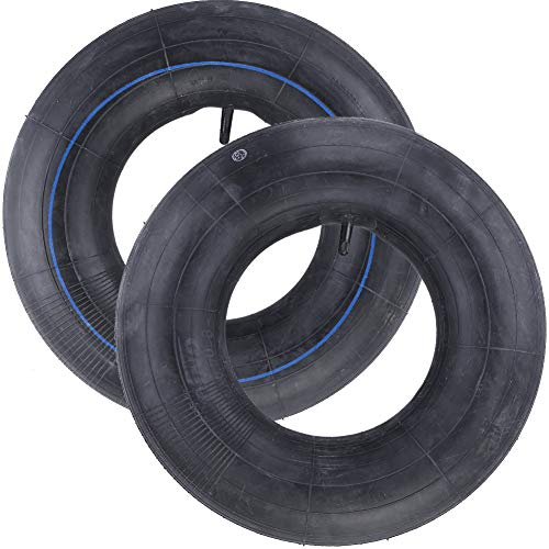 2 Pack 16X6.50-8, 16X7.50-8 Inner Tube for Snow Blower, Lawn Mower, ATV, Farm Tractor, Wheelbarrow, Trailer Implement, Heavy-Duty Replacement Inner Tube with TR-13 Straight Stem Valve