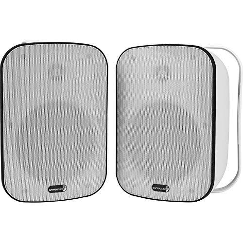 Dayton Audio IO65XTW 6-1/2' IP66 70/100V 8 Ohm Indoor/Outdoor 2-Way Speaker Pair w/Radiator White