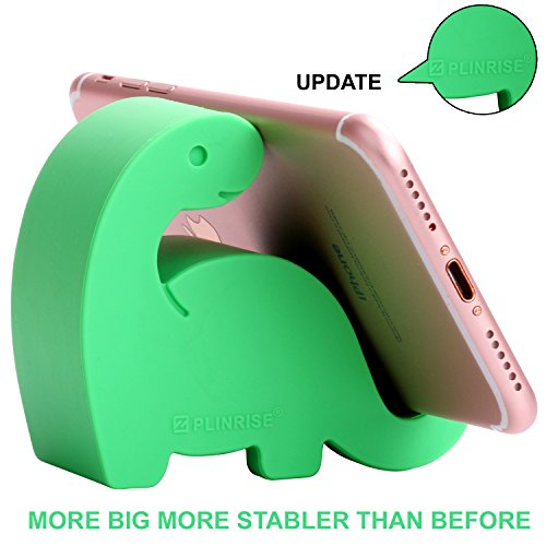Plinrise Animal Desk Phone Stand, Update Dinosaur Silicone Office Phone Holder, Creative Phone Tablet Stand Mounts, Size:1.3' X 3.1' X 2.8'(Green)