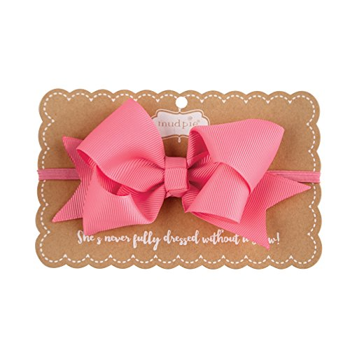 Mud Pie Grosgrain Bow Headband, Hot Pink