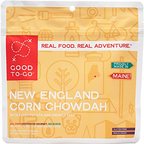GOOD TO-GO New England Corn Chowdah - Double Serving   Dehydrated Backpacking and Camping Food   Lightweight   Easy to Prepare