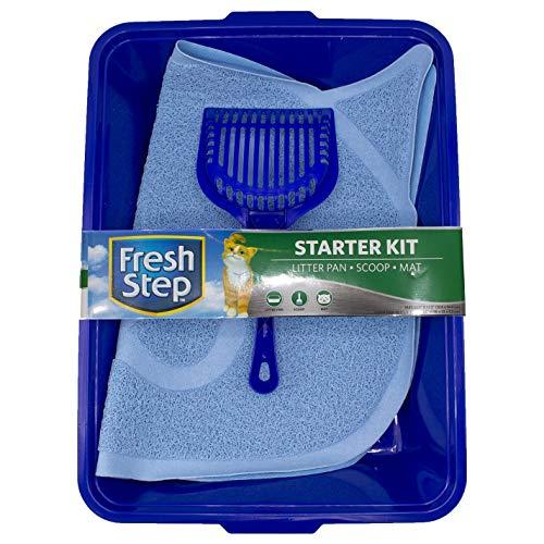 Fresh Step Starter Kit | Cat Litter Cleanup Kit | Litter Box, Scoop, Trapper Keeper Mat
