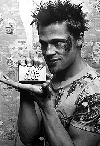 POSTER STOP ONLINE Fight Club - Movie Poster (Brad Pitt with Soap) (Size 24' x 36')