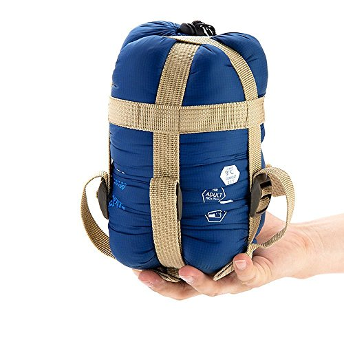 ECOOPRO Warm Weather Sleeping Bag - Portable, Waterproof, Compact Lightweight, Comfort with Compression Sack - Great for Outdoor Camping, Backpacking & Hiking-83 L x 30' W Fits Adults (dark blue)