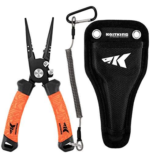 KastKing Speed Demon Pro Fishing Pliers, Straight Nose, 7.5 Inch.