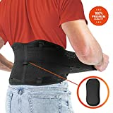 FITGAME Back Brace - Lower Back Support Belt for Pain Relief   Sciatica, Herniated Disc and Scoliosis for Men and Women - Adjustable Straps and Removable Lumbar Pad (X-Large)