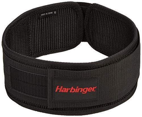 Harbinger 360890 4-Inch Nylon Weightlifting Belt, Medium,Black