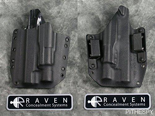 Raven Concealment Systems RCS Phantom Light Compatible Full Shield OWB Holster fits Surefire X300/X200 (Glock 19 23 32, Left)