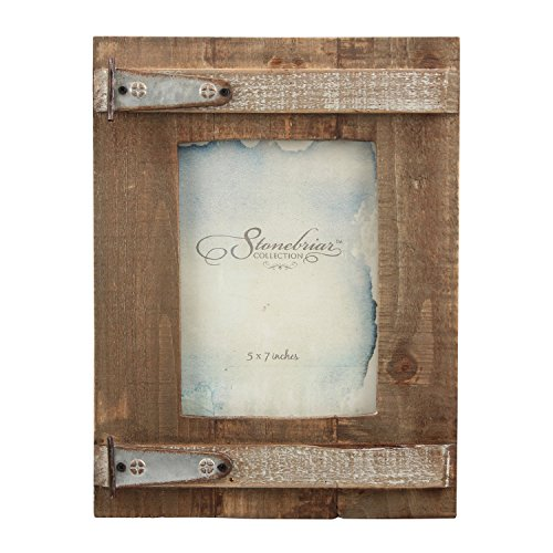 Stonebriar Rustic Natural Wood Picture Frame, Easel Back for Desktop or Table Top Display