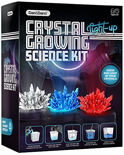 Crystal Science Experiments for Kids - Crystal Growing Kit for Boys and Girls Ages 6-12 Year Old Girl Gifts - Boy Toys STEM Crafts Activities, DIY Projects Kits - Gift for Kids age 6 7 8 9 10 11 & 12