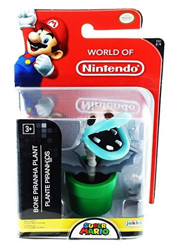 World of Nintendo Super Mario Bone Piranha Plant 2.5' Mini Figure