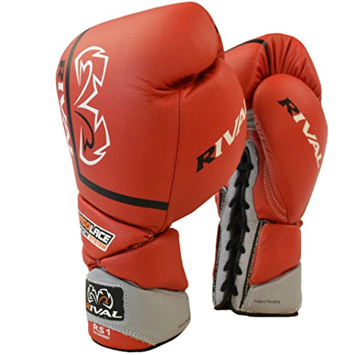 RIVAL Boxing Pro Sparring Gloves - 16 oz - Red