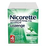 Nicorette Nicotine Lozenge To Quit Smoking, Mint Flavored Stop Smoking aid, 4mg, 144Count