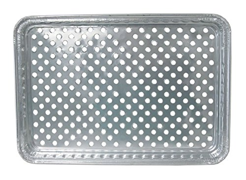 Durable Foil BBQ Gourmet Grill Topper Pan (Pack of 24)