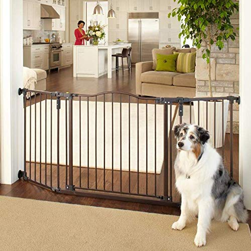 North States MyPet 72' Extra Wide Windsor Arch Gate: Provides safety in extra wide spaces. Hardware Mount. Fits 38.3'-72' wide (30' tall, Matte Bronze)