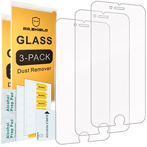 [3-PACK]- Mr.Shield Designed For iPhone 6 Plus/iPhone 6S Plus [Tempered Glass] Screen Protector [Japan Glass With 9H Hardness] with Lifetime Replacement
