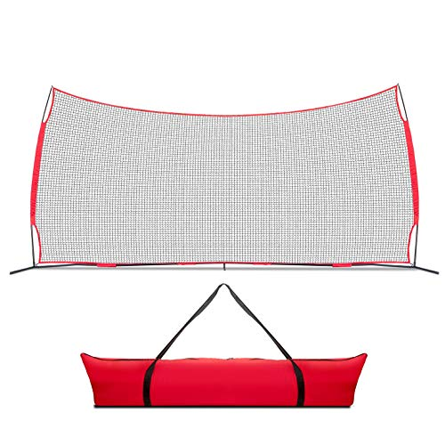 Lacrosse Scoop 20x10 Foot Sports Backstop, 200 Sq Feet of Protection Perfect for Lacrosse, Soccer, Baseball, Softball, Basketball. Best Lacrosse Net, Hockey Net, Sports Net for Backyard and Outdoors