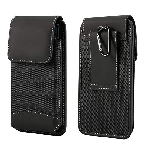 Vertical Belt Loop Carabiner Clip Cell Phone Case Holster Carrier Pouch Sleeve for Samsung Galaxy S10 5G Exynos/SD855 A60 A40S A20 M30 M20 M10 note9 note8 note5 S10 Plus S9 Plus S8 Plus S6 Edge+