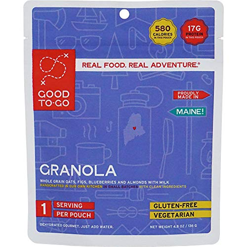 GOOD TO-GO Granola   Dehydrated Backpacking and Camping Food   Lightweight   Easy to Prepare