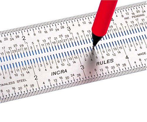 Incra RULE12 12-Inch Incra Rules Marking Rule,Multicolor