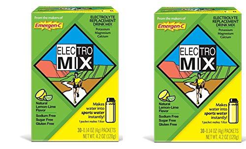 EMERGEN-C ELECTRO MIX Lemon-Lime, 30 ct, 4.2 oz (Pack of 2 box's)