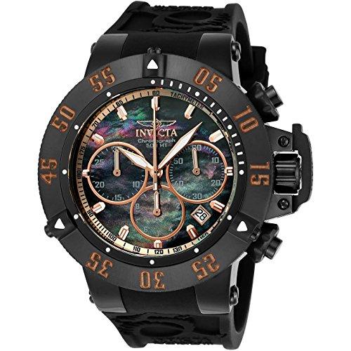 Invicta Men's Subaqua Quartz Watch with Silicone Strap, Black, 28 (Model: 22921)