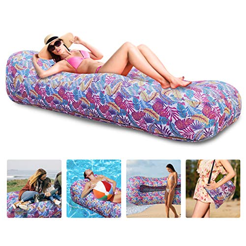 Myuilor Inflatable Lounger Air Sofa Portable Inflatable Couch Waterproof & Anti-Air Leaking Inflatable Sofa Camping Accessories for Backyard, Lakeside, Beach, Party, Travel, Camping, Picnics