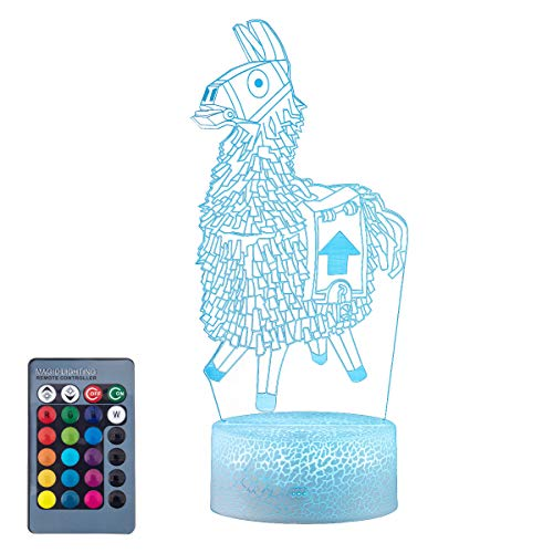 Koyya Llama 3D Night Light Toys Gifts for Kids Changeable LED Desk Table Lamp 3D Illusion Light - USB Power/7 Colors Changing/Touch Switch……