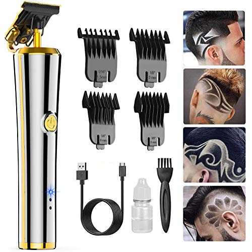 Pro T Outliner Hair Clippers Trimmer, Oudekay Electric Cordless Pro Li Outliner Trimmer Rechargeable T Blade Trimmer Grooming, Professional 0mm Baldheaded Zero Gapped Trimmer Hair Clipper for Men