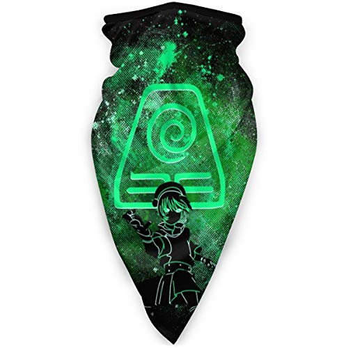 Avatar The Last Airbender Toph Art Earth Symbol Face Mask Bandanas for Dust, Outdoors, Festivals, Sports
