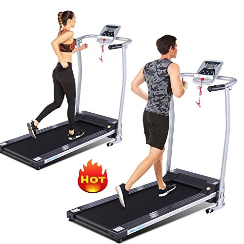 ANCHEER Folding Treadmill, Electric Treadmills for Home with LCD Motorized Running Walking Jogging Exercise Fitness Machine Trainer Equipment for Home Gym Office